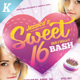 Sweet 16 Party Flyer Templates - GraphicRiver Item for Sale