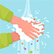 Washing Hands with Foam Away Germs - GraphicRiver Item for Sale