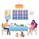 Family Eating at Home - GraphicRiver Item for Sale