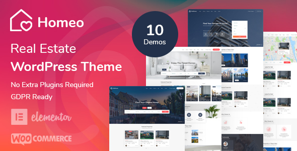 Homeo – Real Estate WordPress Theme