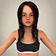 Realistic Child Girl - 3DOcean Item for Sale