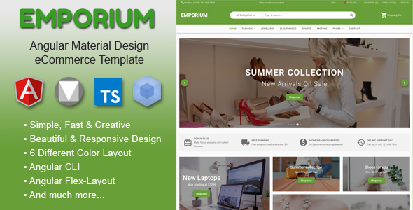 Emporium - Angular 9 Material Design eCommerce Template