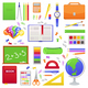 School Supplies for Students - GraphicRiver Item for Sale