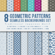 Geometric Patterns Seamless Backgrounds Set Traditional Japanese Motif - GraphicRiver Item for Sale