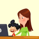 Little Boy Learning the Use of Computers - GraphicRiver Item for Sale