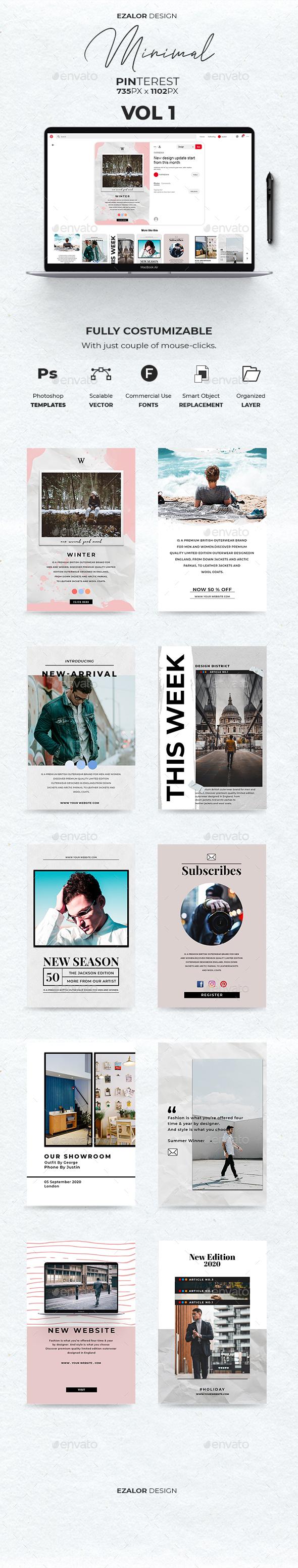 12 Pinterest Fashion Graphics, Designs & Templates
