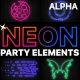 Neon Party Elements   Motion Graphics Pack - VideoHive Item for Sale