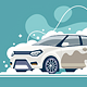 Stages of Car Washing at Car Wash - GraphicRiver Item for Sale