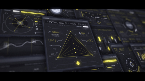Interceptor 100 UI HUD Screens