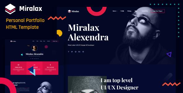 Miralax - Personal Portfolio HTML Template