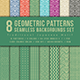 Japanese Motif Seamless Geometric Patterns Backgrounds Set - GraphicRiver Item for Sale