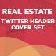 Real Estate Twitter Header Set - 05 Designs - GraphicRiver Item for Sale
