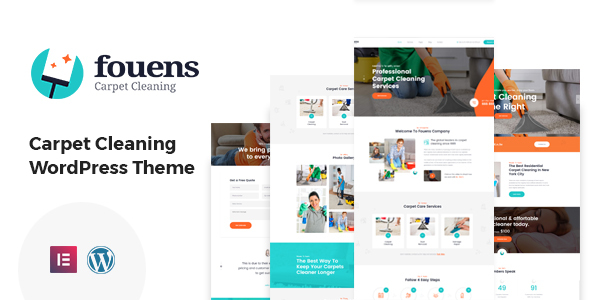 Fouens – Carpet Cleaning WordPress Theme Preview