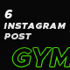 Instagram Post Gym & fitness - GraphicRiver Item for Sale