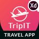 TripIt - Travel Adobe XD Mobile Application - ThemeForest Item for Sale