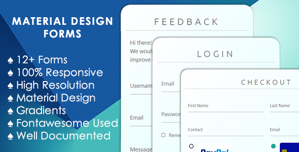 Modern Material Design Forms