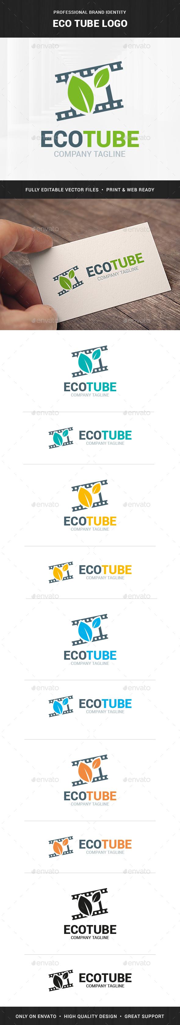 Eco Tube Logo Template