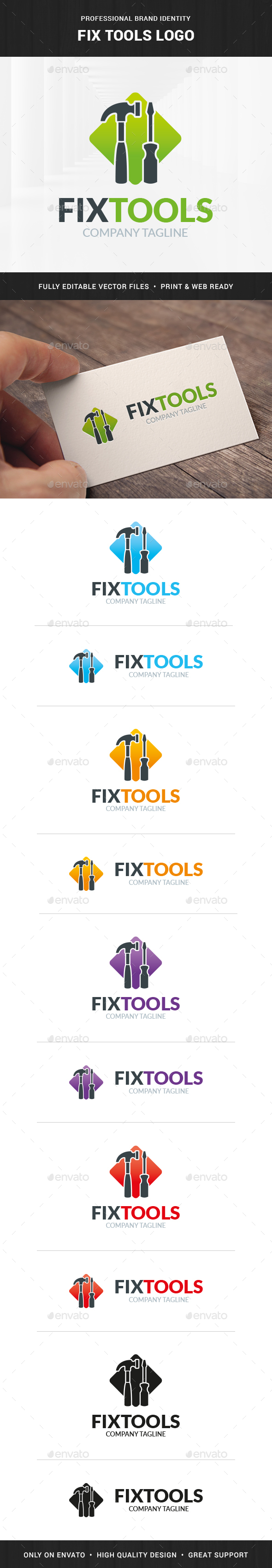 Fix Tools Logo Template