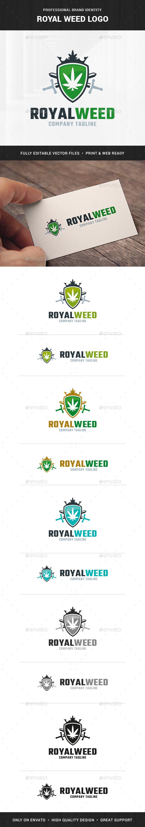 Royal Weed Logo Template