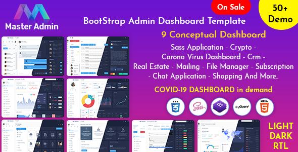 Master Admin - Responsive Admin Dashboard Template