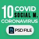 Covid-19 & Coronavirus 10 Social Media Post - GraphicRiver Item for Sale