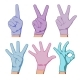 Hands in Colored Medical Gloves - GraphicRiver Item for Sale