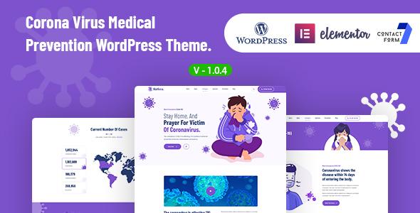 Korisna – Virus Medical Prevention WordPress Theme Preview
