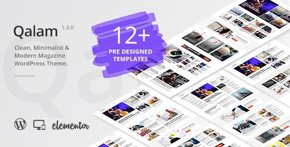 Qalam - NewsPaper and Magazine WordPress Theme