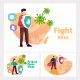 Fighting Coronavirus - GraphicRiver Item for Sale
