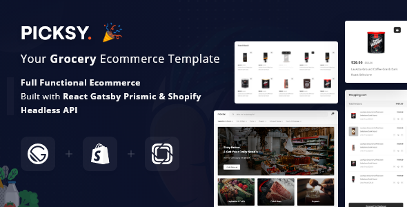 Picksy React Gatsby Grocery Ecommerce Template For Free Trends Wide