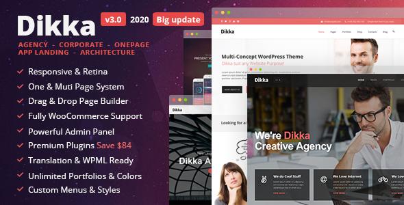 Dikka - Responsive Multi-Concept WordPress Theme