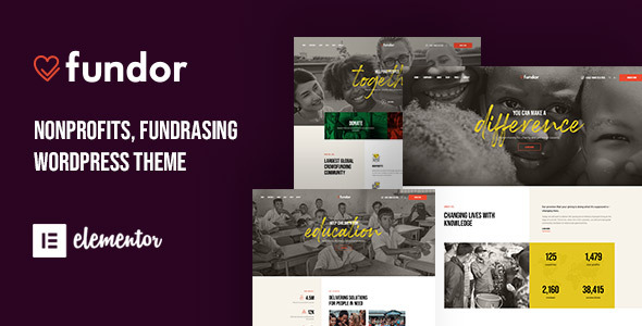 Fundor - Charity & Nonprofit WordPress Theme