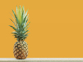 Pineapple with yellow background - PhotoDune Item for Sale