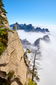 Huashan National Park mountain landscape in clouds, China. - PhotoDune Item for Sale