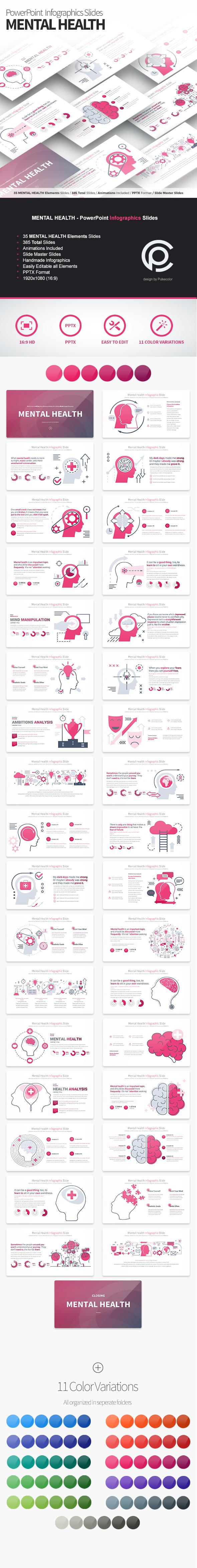 MENTAL HEALTH - PowerPoint Infographics Slides