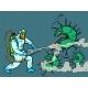 Disinfection Destroys the Covid19 Coronavirus - GraphicRiver Item for Sale