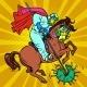 Horseman Doctor Defeats Coronavirus, St. George - GraphicRiver Item for Sale
