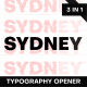 Sydney | Typography Opener - VideoHive Item for Sale
