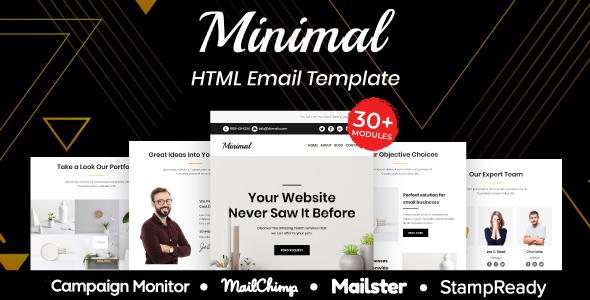 Download Minimal - Multipurpose Responsive Email Template 30+ Modules Mailchimp