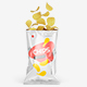 Opened Glossy Snack Package Mockup - Front View - GraphicRiver Item for Sale