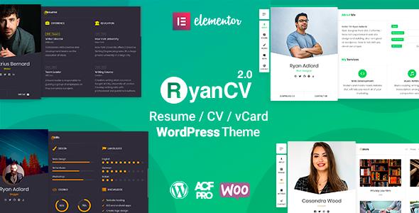 RyanCV - CV Resume Theme