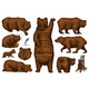 Grizzly Bear Set. Collection of Hunting Brown Wild - GraphicRiver Item for Sale