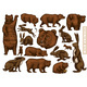 Grizzly Bear and Hares Set. Collection of Rabbits - GraphicRiver Item for Sale