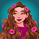 Smiling Girl with Flowers in her Hair - GraphicRiver Item for Sale