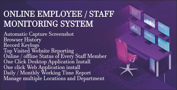 Employee Tracking System for Windows 7/8/10