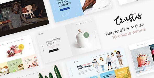 Craftis – Handcraft & Artisan WordPress Theme Preview