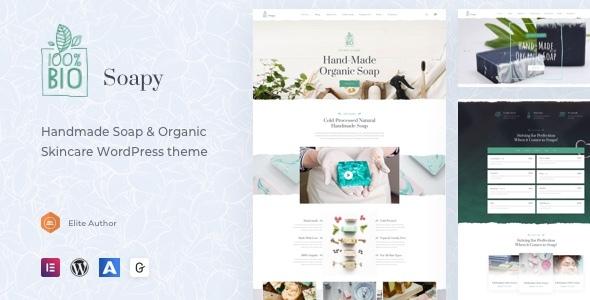 Soapy – Handmade & Organic Skincare WordPress Preview
