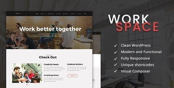 WorkSpace - Creative CoWorking Office WordPress Theme