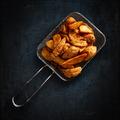 Golden potatoes in metal basket - PhotoDune Item for Sale