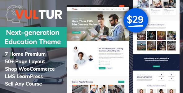 Vultur – LMS Education WordPress Preview